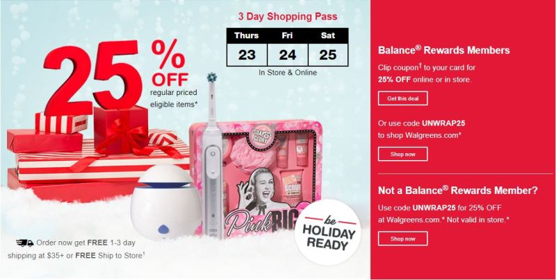 Walgreens Black Friday Sale, Deals, Coupons and Ads 2020