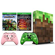 Xbox One S Minecraft Limited Editon 1TB Console and Extra Limited Edition Minecraft Pig Wireless Controller Bundle