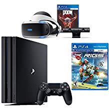 PlayStation VR Bundle 4 Items:VR Headset,Playstation Camera,PlayStation 4 Pro 1TB,VR Game Disc RIGS Mechanized Combat League