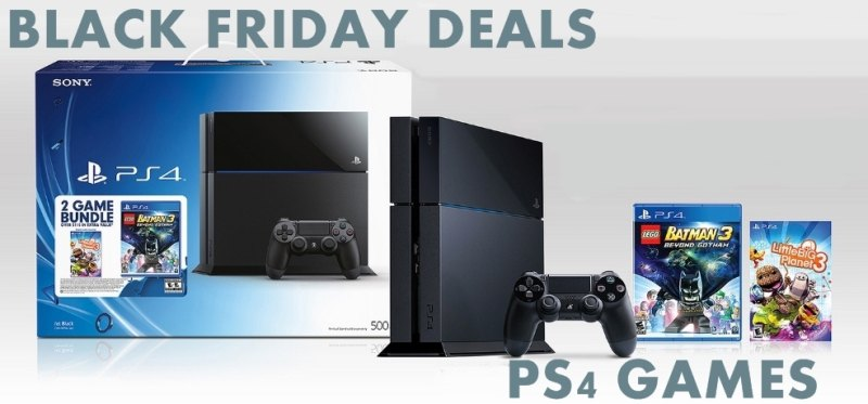 PS4 Games Black Friday & Cyber Monday Deals