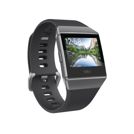 Fitbit Ionic GPS Smart Watch, Charcoal/Smoke Gray, One Size (S & L Bands Included)