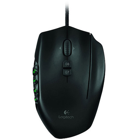 Logitech G600 MMO Gaming Mouse, RGB Backlit, 20 Programmable Buttons (910-002864)
