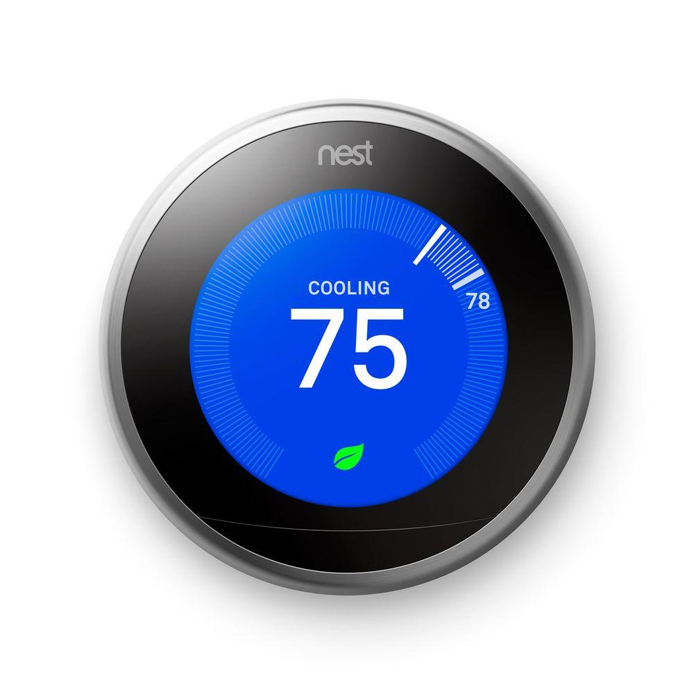 nest t3007es learning thermostat easy temperature control for every room
